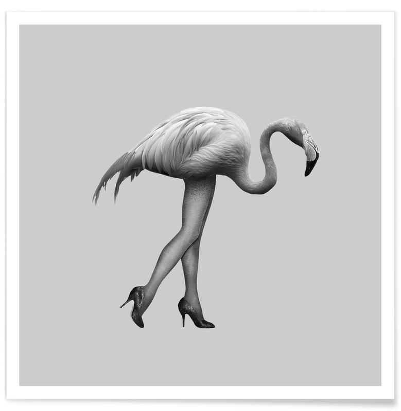 Flamingo-go Girl Poster