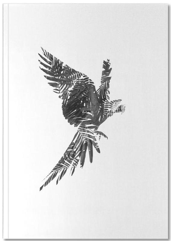 Black & White, Parrots, Parrot Notebook