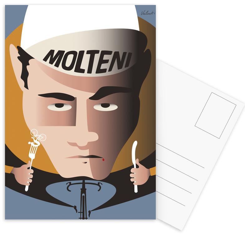 Cycling, Retro, Merckx Postcard Set