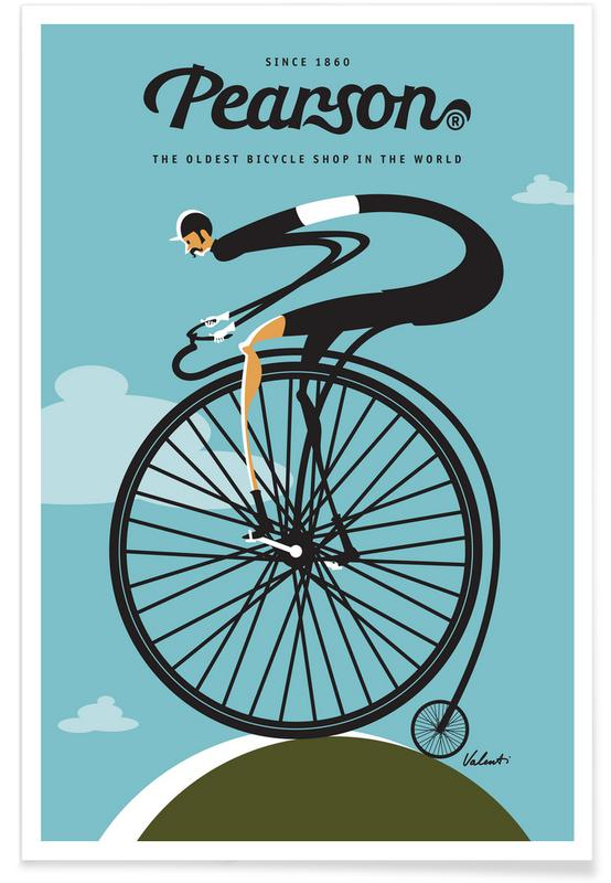 Bicycles, Retro, Pearson Poster