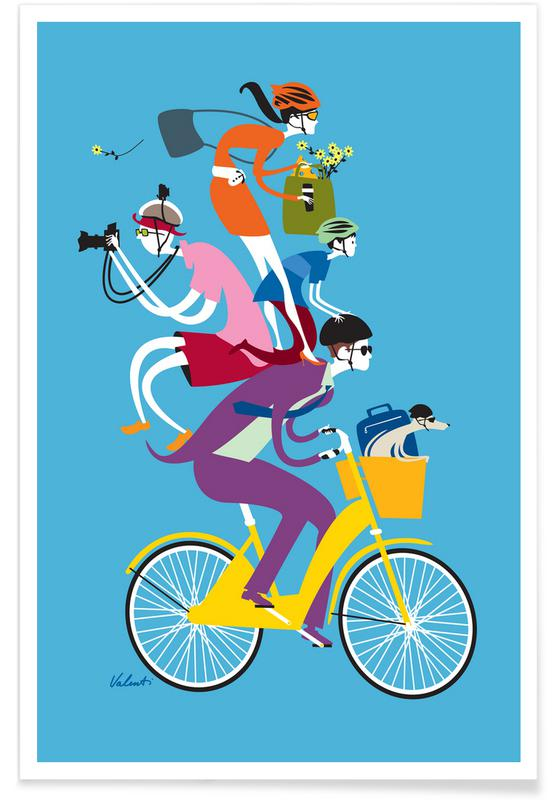 Bicycles, Retro, Share The Love Poster