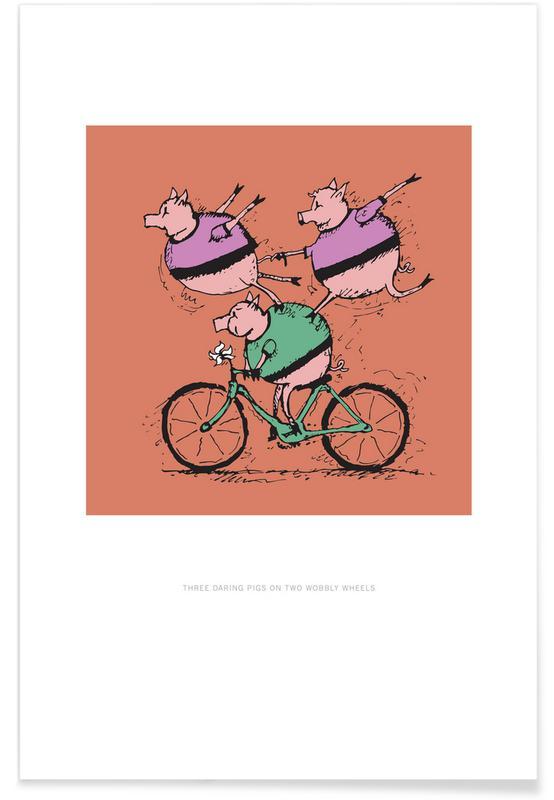 Nursery & Art for Kids, Three Pigs Poster