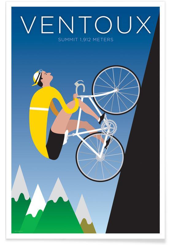 Cykling, Cykler, Ventoux Plakat