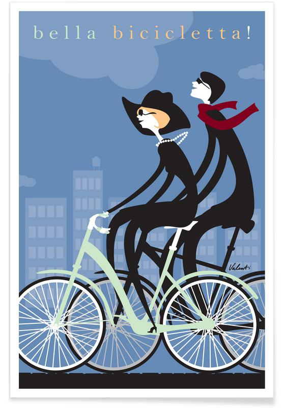 Bicycles, Retro, Bella Bicicletta Poster