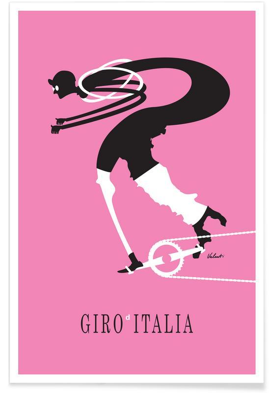 Cycling, Retro, Giro Poster