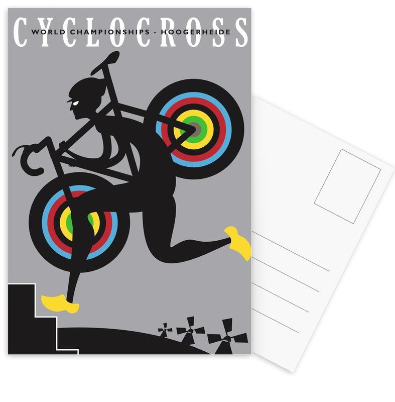 Cycling, Retro, Hoogerheide Postcard Set