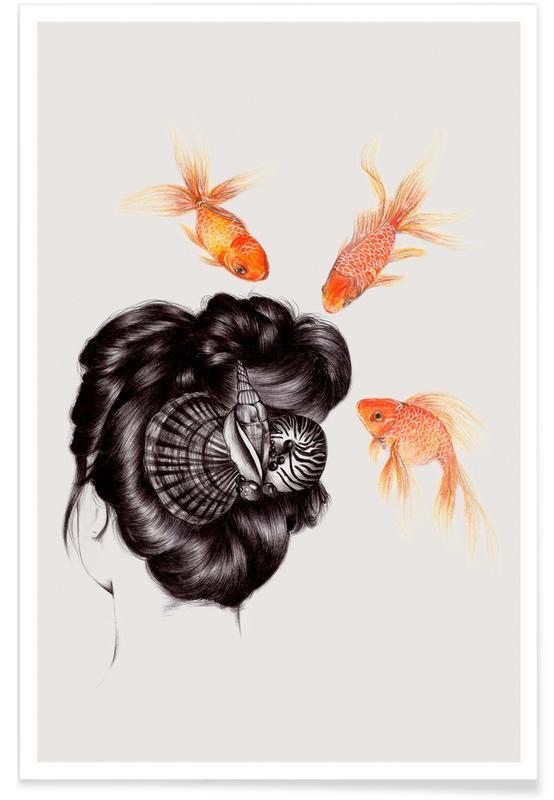 Fish Hair 4 Poster