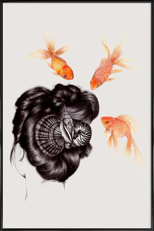 Fish Hair 4 -Bild mit Kunststoffrahmen