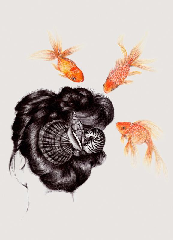 Fish Hair 4 Canvas Print