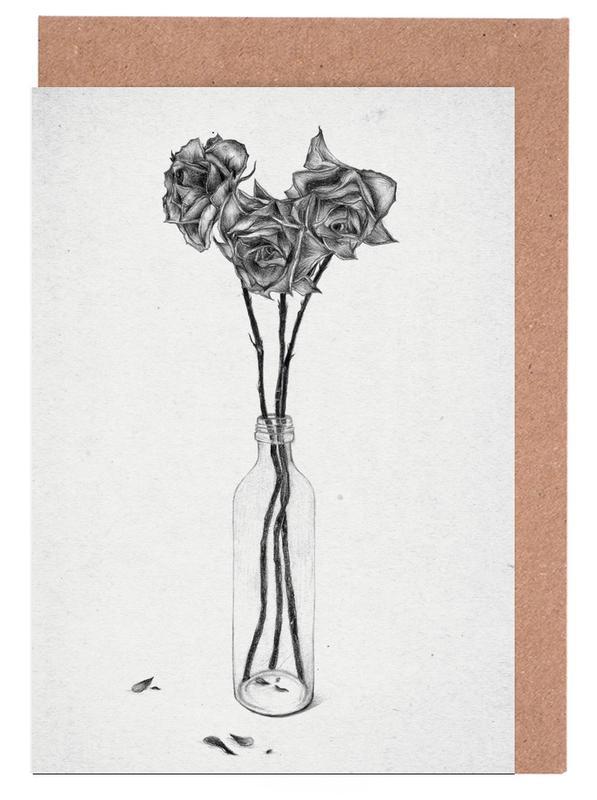 Black & White, Les Fleurs 1 Greeting Card Set