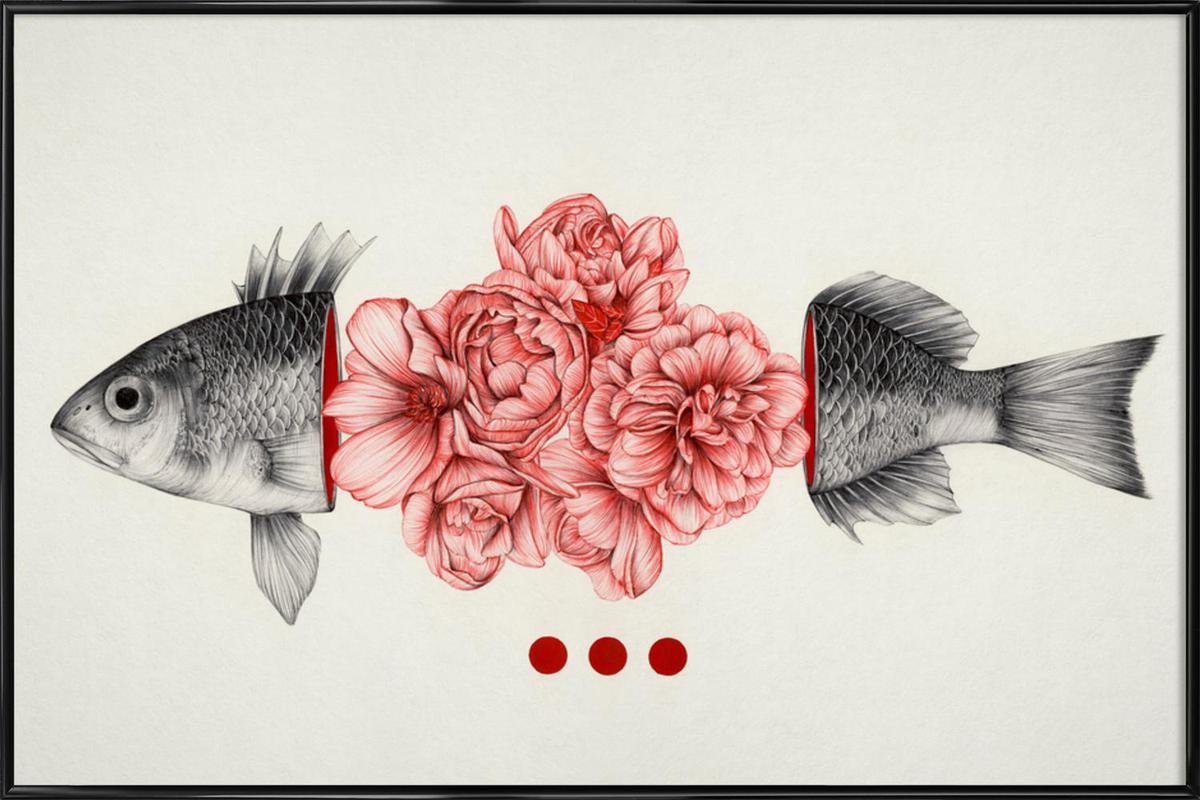 To Bloom Not Bleed -Bild mit Kunststoffrahmen