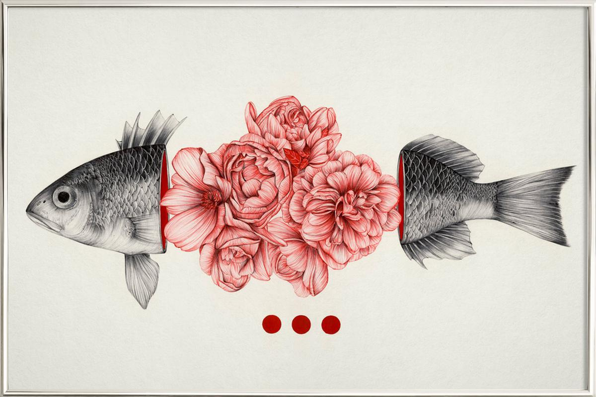 To Bloom Not Bleed -Poster im Alurahmen