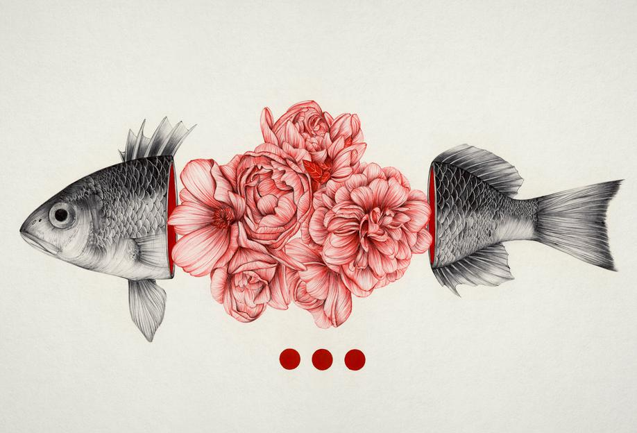 To Bloom Not Bleed Aluminium Print