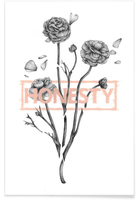 Rosen, Schwarz & Weiß, Flowers 1 -Poster