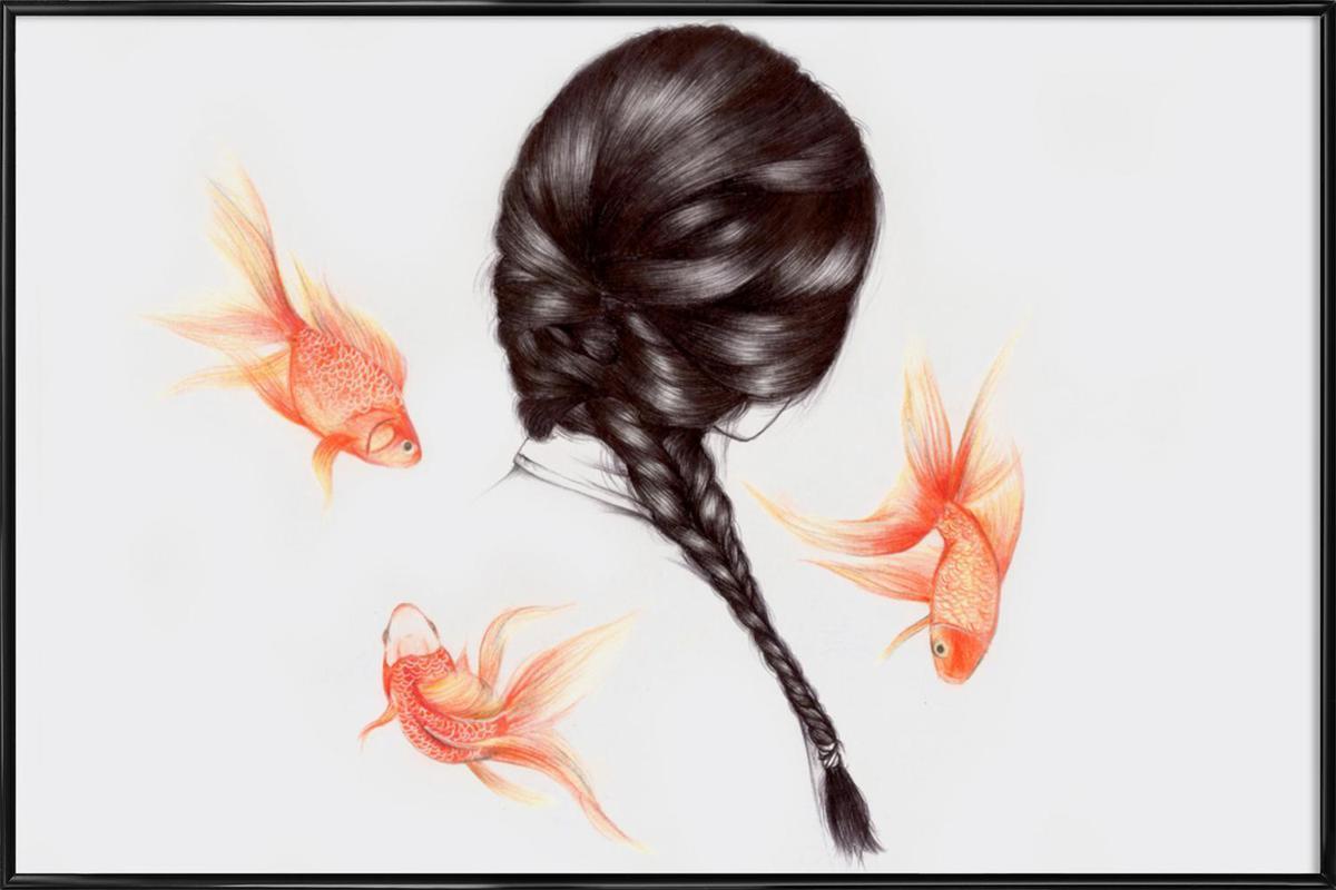 Fish Hair 1 -Bild mit Kunststoffrahmen