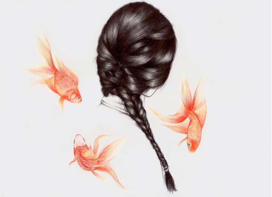 Fish Hair 1 Canvas Print