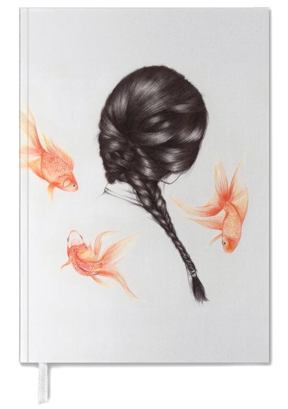 Fische, Kinderzimmer & Kunst für Kinder, Porträts, Fish Hair 1 -Terminplaner