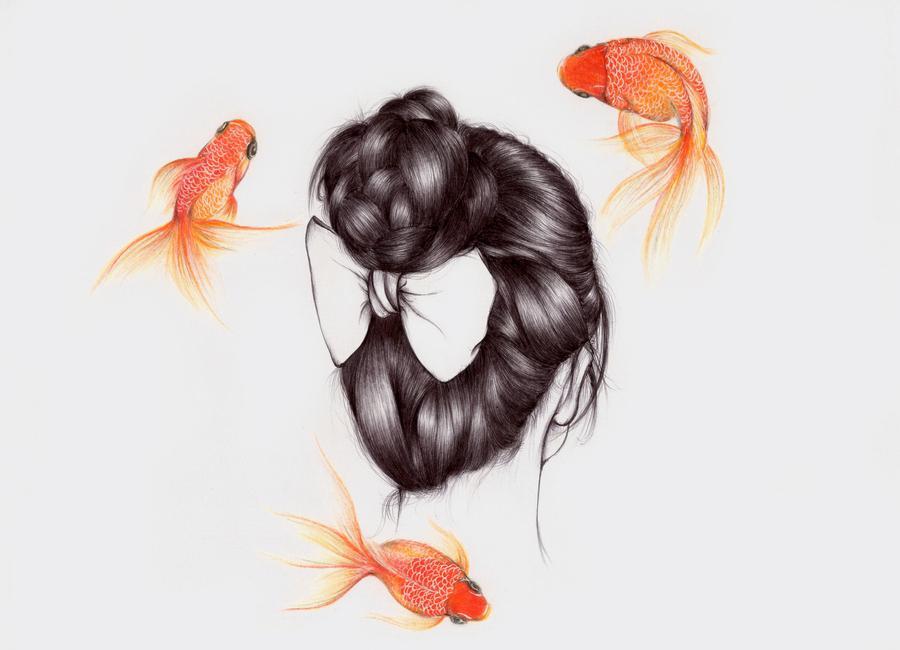 Fish Hair 2 toile