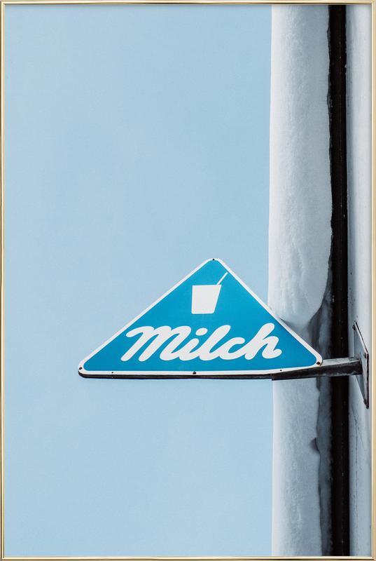 Milch poster in aluminium lijst
