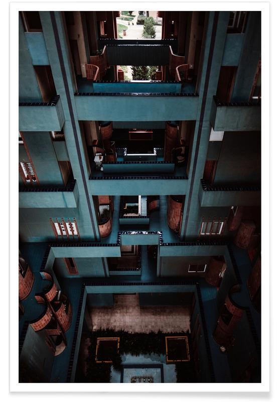 Architectonische details, Barcelona, Walden Tetris poster