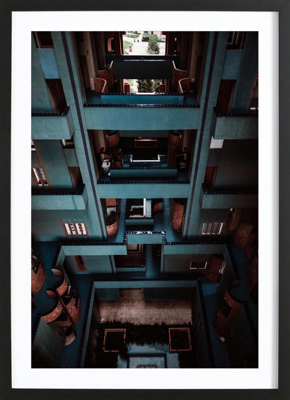 Walden Tetris -Bild mit Holzrahmen