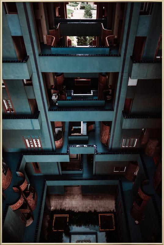Walden Tetris -Poster im Alurahmen