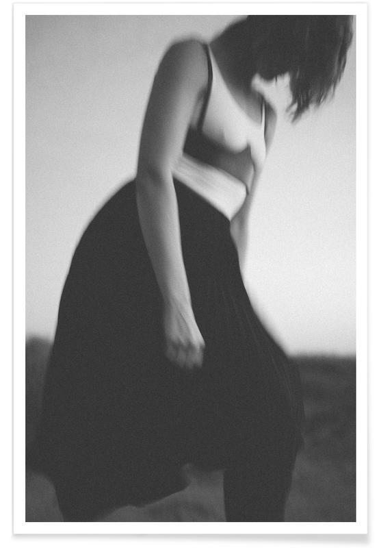 Fashion Photography, Black & White, Desert Dance Poster