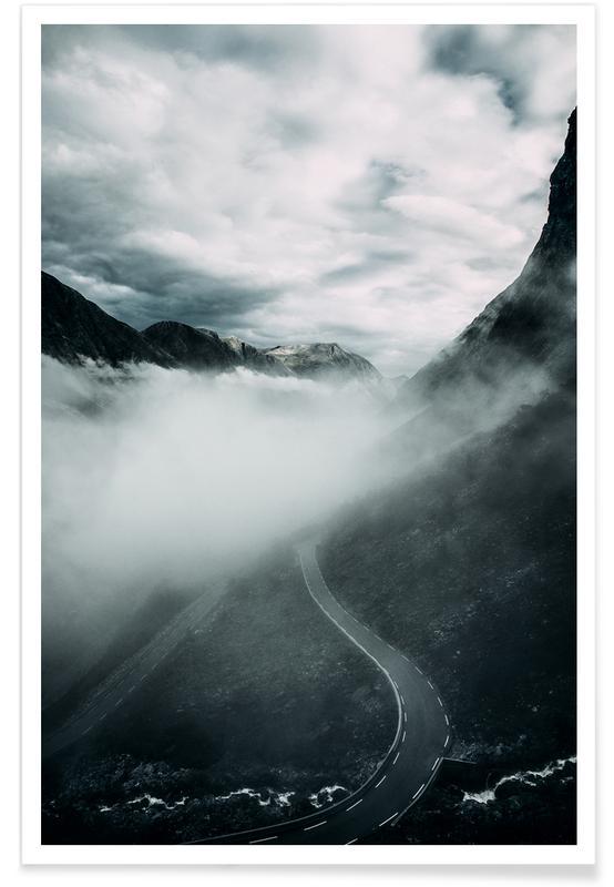 Montagnes, Misty Roads affiche