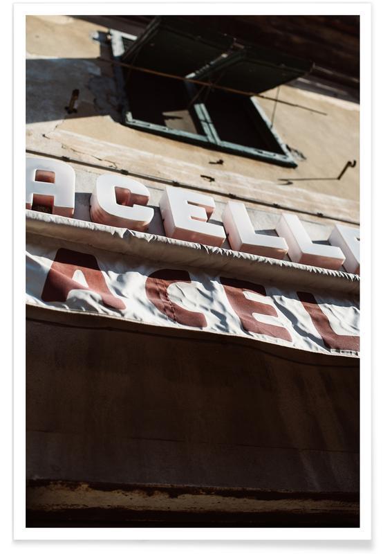 Détails architecturaux, Street Art, Macelleria affiche