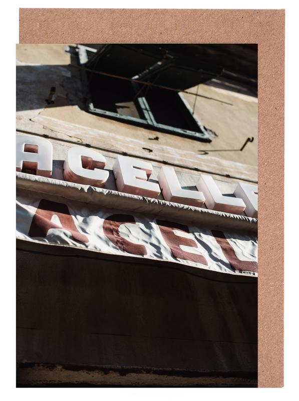 Détails architecturaux, Street Art, Macelleria cartes de vœux