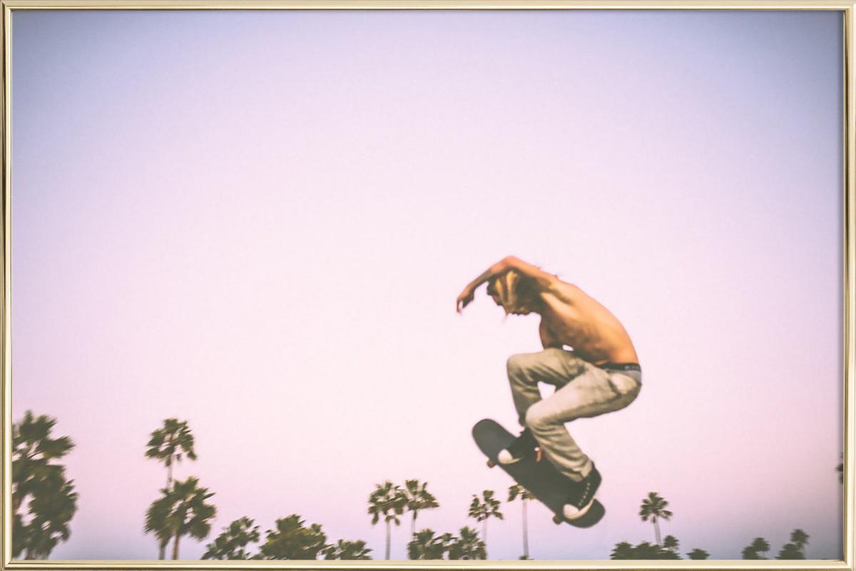 Skate Dreams Poster in Aluminium Frame