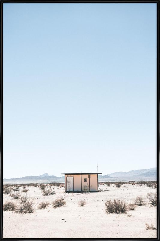 Desert House -Bild mit Kunststoffrahmen