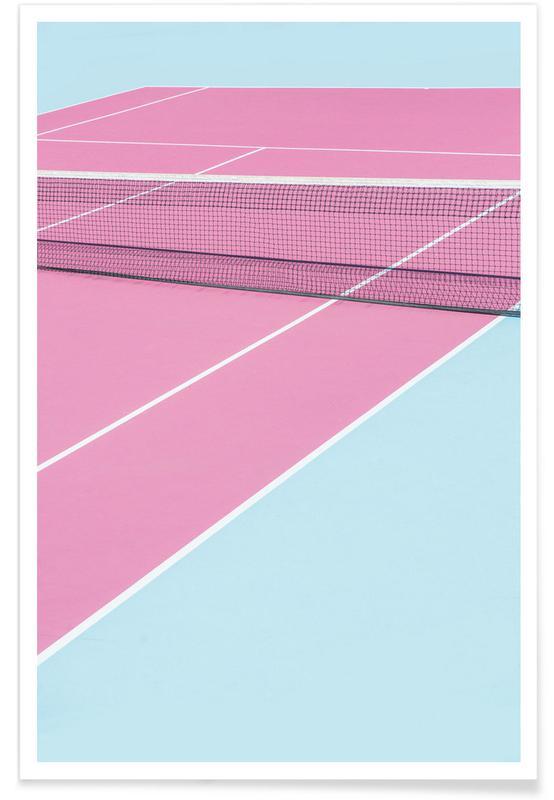 Arkitektoniske detaljer, Tennis, Pink Court - Net Plakat