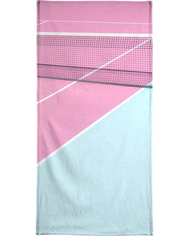 Détails architecturaux, Tennis, Pink Court - Net serviette de plage