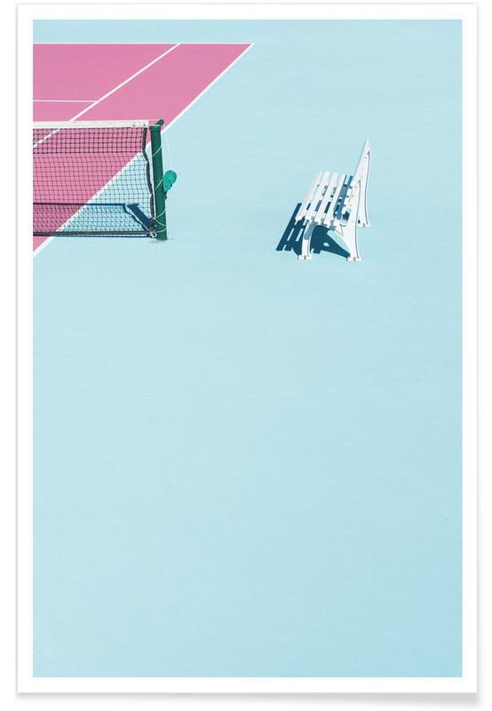Architectural Details, Tennis, Pink Court - Bench Poster