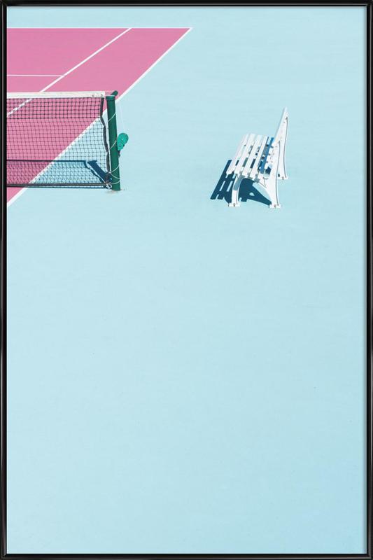 Pink Court - Bench -Bild mit Kunststoffrahmen