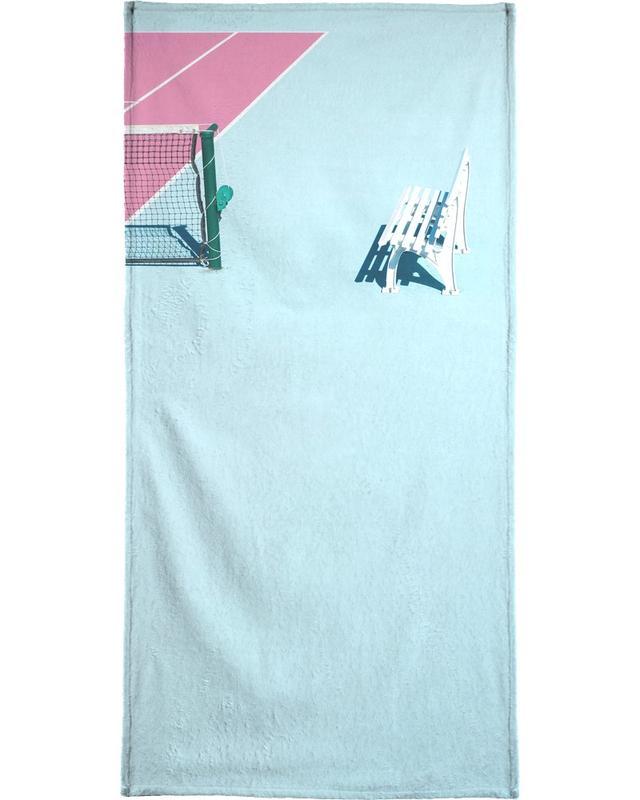 Détails architecturaux, Tennis, Pink Court - Bench serviette de plage