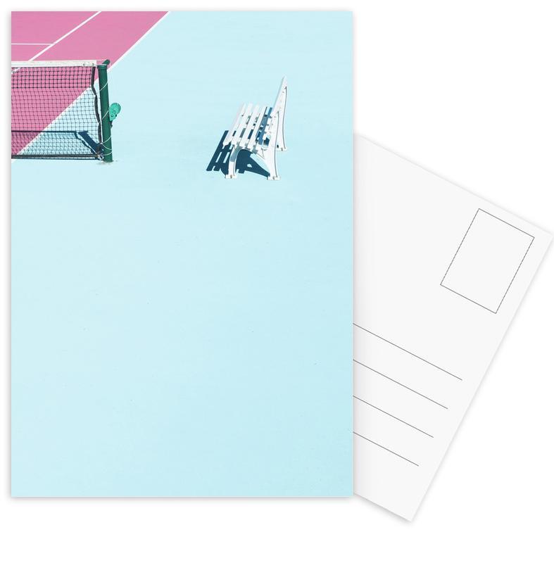Détails architecturaux, Tennis, Pink Court - Bench cartes postales