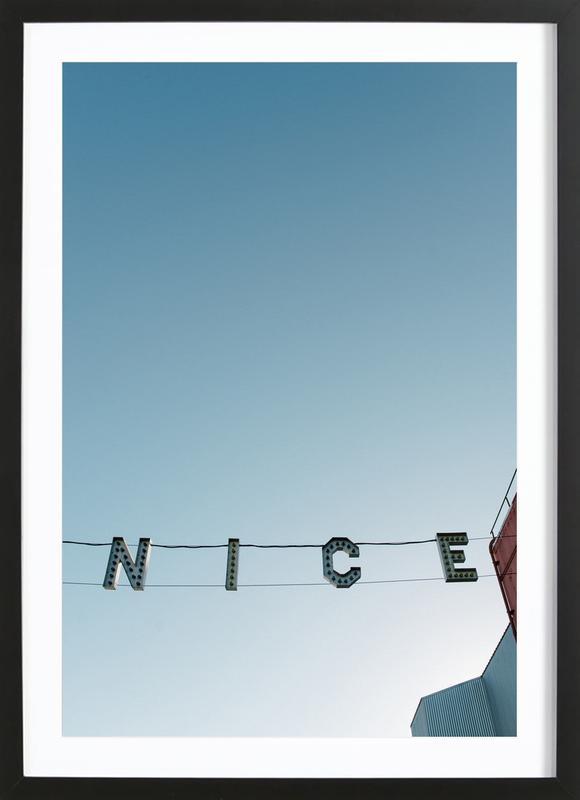 Ve-Nice -Bild mit Holzrahmen