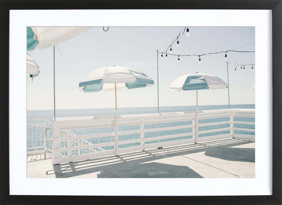 Blue Malibu Framed Print