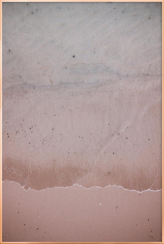 Beach Patterns 4 Poster in Aluminium Frame