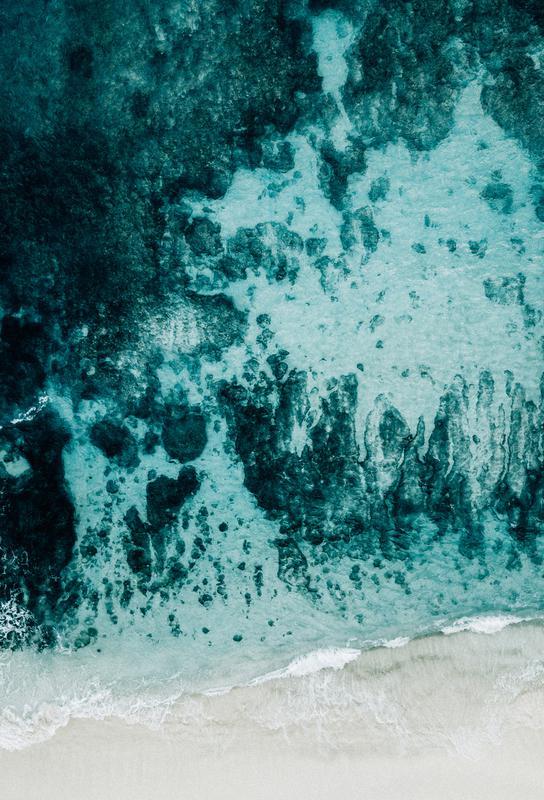 Beach Patterns Aluminium Print