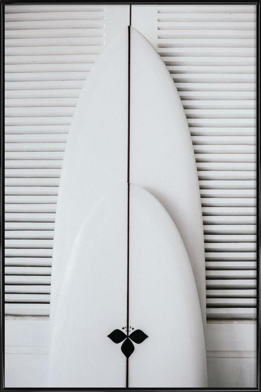Beach Surf Board Symmetrie Poster i standardram