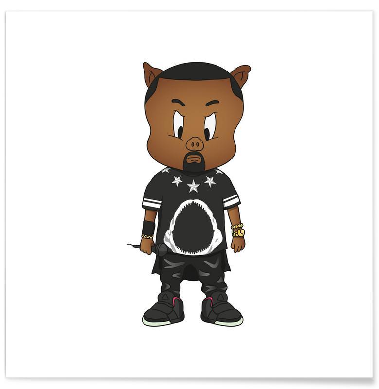 Hiphop en rap, Porky West poster