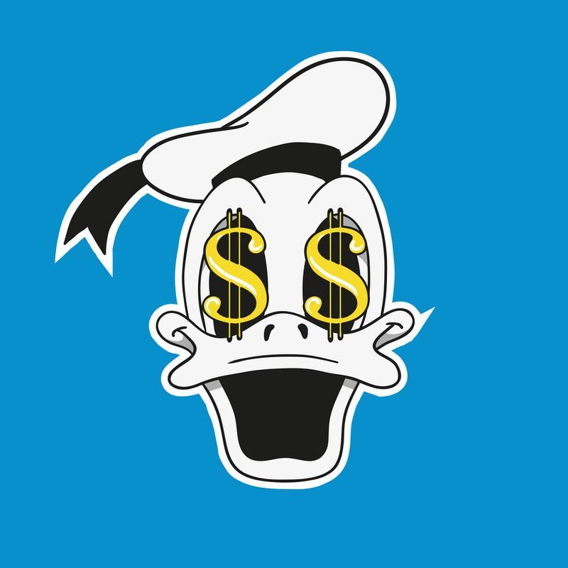 The Cash Duck -Leinwandbild
