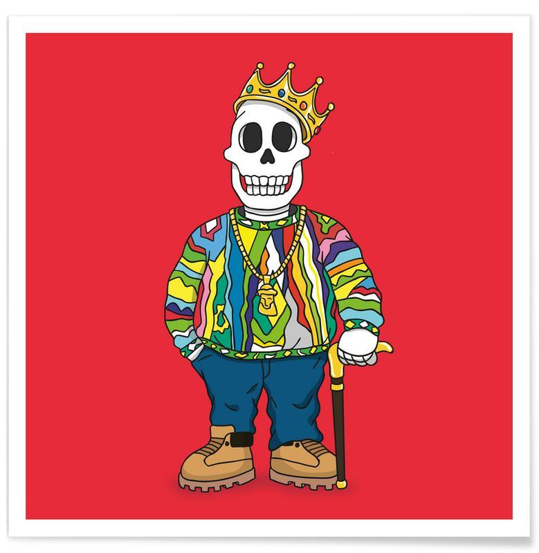 Notorious B.I.G., Hip-Hop & Rap, Biggie Skull affiche