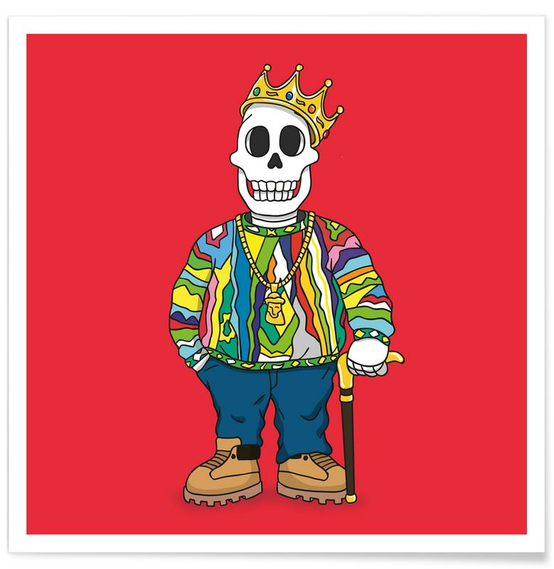 Hip Hop & Rap, Notorious B.I.G., Biggie Skull Poster
