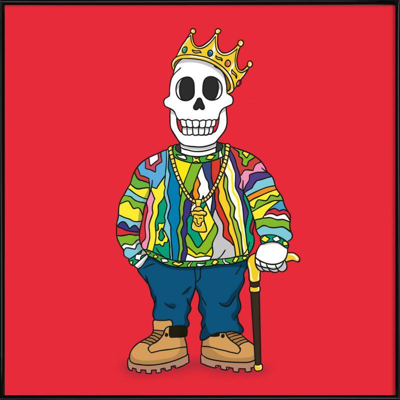 Biggie Skull affiche encadrée