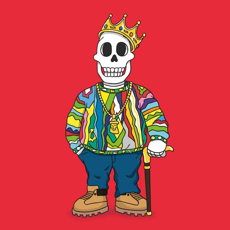 Biggie Skull tableau en verre