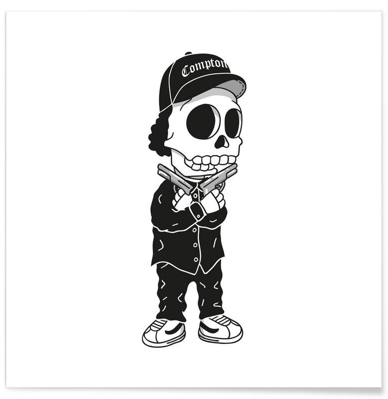 Hip Hop & Rap, Compton Skull Poster